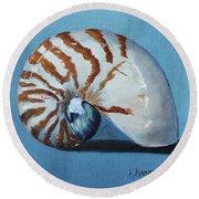 Nautilus Round Beach Towel