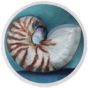 Nautilus Shell Round Beach Towel