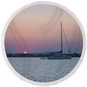 Naxos Island Round Beach Towel