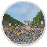 Nearly There Round Beach Towel