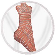 Neolithic Venus Mother Goddess Round Beach Towel