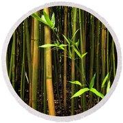 New Bamboo Shoot Round Beach Towel