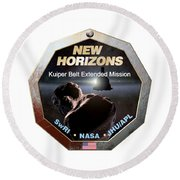 New Horizons Extended Mission Logo Round Beach Towel