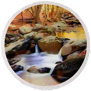 New Jersey Pines Round Beach Towel