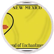 New Mexico State License Plateai Round Beach Towel