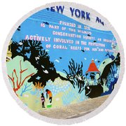 New York Aquarium, Coney Island, Brooklyn, New York Round Beach Towel
