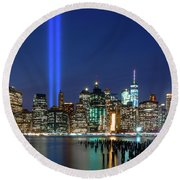 New York City 9/11 Commemoration  Round Beach Towel