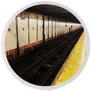 New York City Subway Line Round Beach Towel