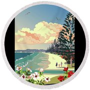 New Zealand Orewa Beach Round Beach Towel