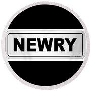 Newry City Nameplate Round Beach Towel