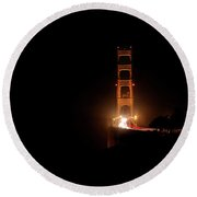 Night Dream- Round Beach Towel by JD Mims