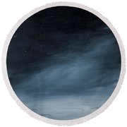 Night Skies No. 3 Round Beach Towel