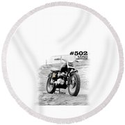 No 502 Mcqueen Desert Sled Round Beach Towel