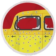 No1072 My Bonnie And Clyde Minimal Movie Poster Round Beach Towel