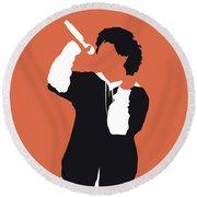 No223 My Bruno Mars Minimal Music Poster Round Beach Towel