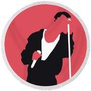 No242 My Depeche Mode Minimal Music Poster Round Beach Towel