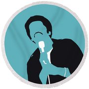 No265 My Ben E King Minimal Music Poster Round Beach Towel