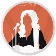 No273 My Dolly Parton Minimal Music Poster Round Beach Towel