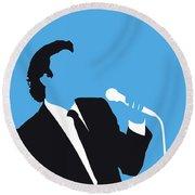 No279 My Julio Iglesias Minimal Music Poster Round Beach Towel