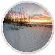 North Beach Dunes Round Beach Towel