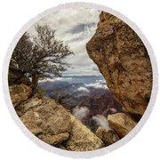 North Rim Fog 1 - Grand Canyon National Park - Arizona Round Beach Towel