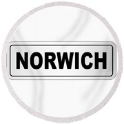 Norwich City Nameplate Round Beach Towel