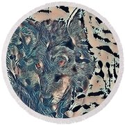 Not A Big Bad Wolf Round Beach Towel