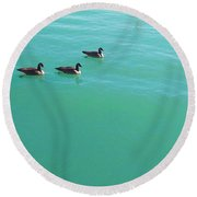 Not A V Round Beach Towel by Robert Knight