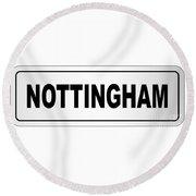 Nottingham City Nameplate Round Beach Towel