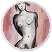 Nude 51 Round Beach Towel