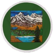 Number Four - Call Of The Wild Round Beach Towel