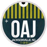 Oaj Oaj Jacksonville Luggage Tag I Luggage Tag I Round Beach Towel