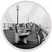 Ocean Grove Pier 2 Round Beach Towel