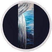 Ocean Latte Stone Round Beach Towel by Michelle Pier