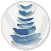 Ocean Zen 2 - Art By Linda Woods Round Beach Towel