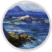 Off Mission Point Aka Point Lobos Round Beach Towel