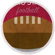 Ohio State Football Minimalist Retro Sports Poster Series 003 Round Beach Towel
