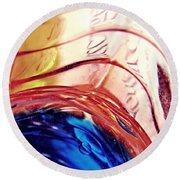 Oil And Water 26 Round Beach Towel