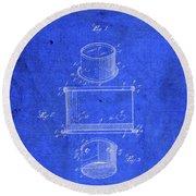 Old Ant Trap Vintage Patent Blueprint Round Beach Towel