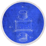 Old Ant Trap Vintage Patent Blueprint Round Beach Towel