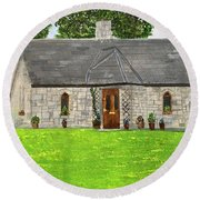 Old Columba's Church Rectory Round Beach Towel