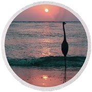 Old Fashioned  Round Beach Towel