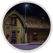 Old House #i0 Round Beach Towel by Leif Sohlman