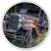 Old Model Aa Ford In The Jungle 2 Round Beach Towel