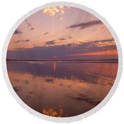 Old Orchard Beach Glorious Sunset Round Beach Towel