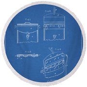 Old Post Office Mail Bag Round Beach Towel