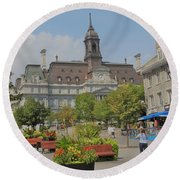 Olde Montreal Round Beach Towel