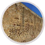 Oldest Castle Of Castro Marim Round Beach Towel