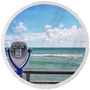 On A Clear Day You Can See Forever Round Beach Towel