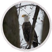 On Morning Watch Round Beach Towel